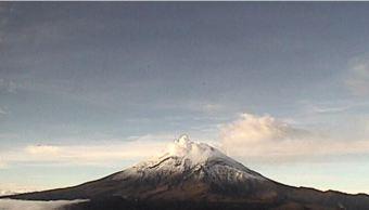 volcan popocateptl emite exhalaciones y registra sismos