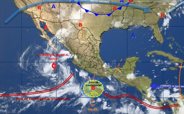 Franklin no implica riesgo adicional a época de lluvias para Michoacán