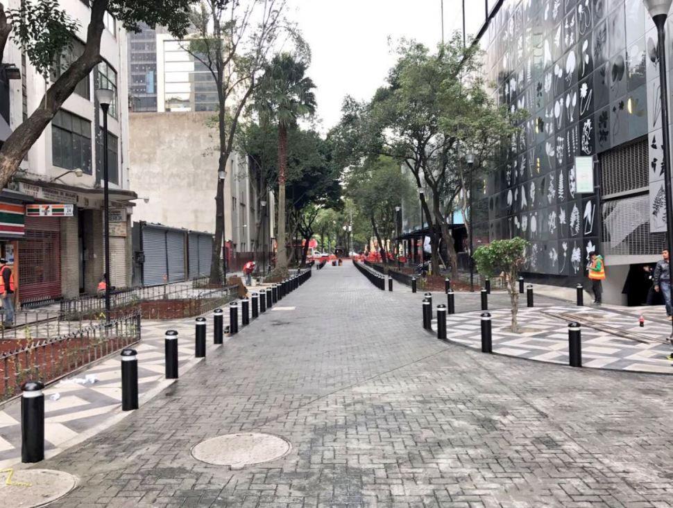 Reabren calles de la Zona Rosa