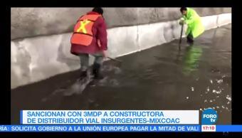 Aplican sanciones inundación de desnivel Mixcoac