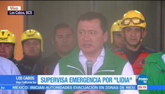 Osorio Chong realiza un balance por los daños provocados por 'Lidia'