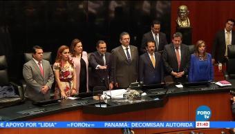 Ernesto Cordero fue electo presidente de la mesa directiva del Senado