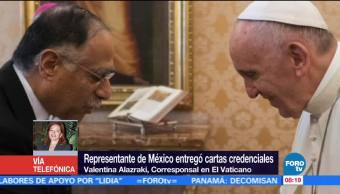 Representante Mexico Entrego Cartas Credenciales Papa Francisco