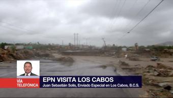 EPN arriba a BCS para evaluar daños causados por tormenta 'Lidia'