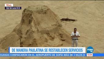 Restablecen Servicios Bcs Tormenta Lidia Baja California Sur