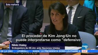 Nikki Haley Corea Norte Pidiendo Guerra