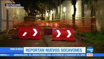 Reportan Dos Nuevos Socavones Cdmx Ciudad De México