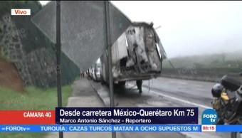 Accidente Tráileres Muertos México Querétaro