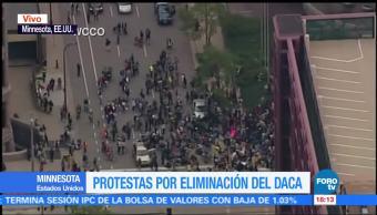 Manifestaciones Cancelación Programa Daca Dreamers Protestar