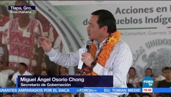 Osorio Chong Entrega Acciones Beneficio Pueblos Indígenas Guerrero