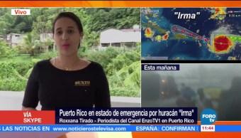 Huracán Irma Acerca Puerto Rico