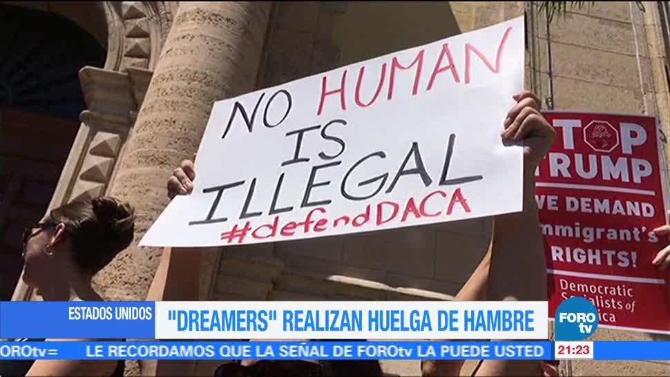 Dreamers realizan huelga de hambre