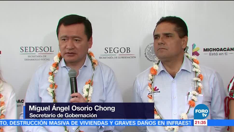 Osorio Chong pide superar problemas en la Cámara de Diputados