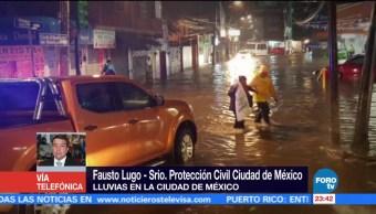 CDMX mantiene alerta ante lluvias causadas por Katia