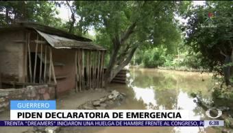 Guerrero, declaratoria, emergencia, desbordamiento