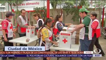 Cruz Roja Mexicana Continúa Recibiendo Víveres