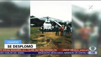 Cae Helicóptero Trasladaba Ayuda humanitaria