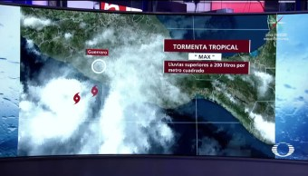 Guerrero en alerta por la tormenta tropical 'Max'