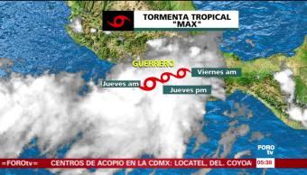 Tormenta tropical 'Max' se sitúa frente al costas de Acapulco