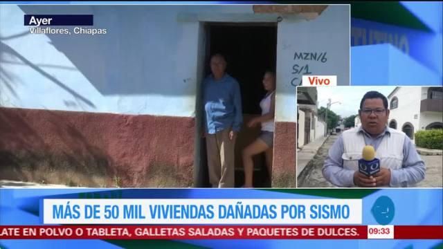 Chiapas calcula más de 50 mil viviendas dañadas tras sismo