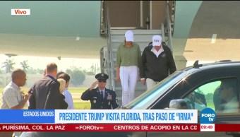 Trump llega a Florida, afectada por huracán 'Irma'