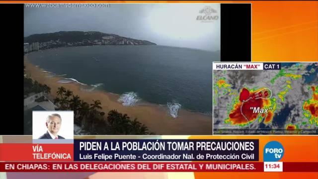 Huracán 'Max' provoca más vientos que lluvia