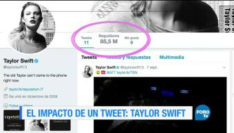 El impacto de un tweet de Taylor Swift