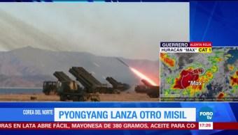 ejército de Norcorea lanza un nuevo misil