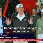 Trump visita zonas afectadas por 'Irma' en Florida