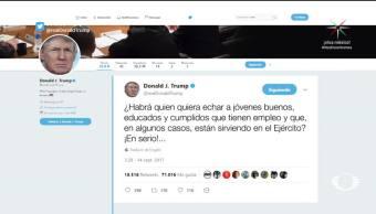Trump se enreda con tuits sobre dreamers
