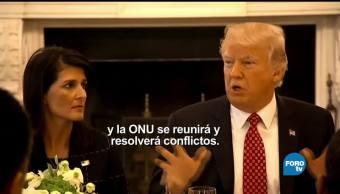 Trump, Macron y Guterres en la ONU