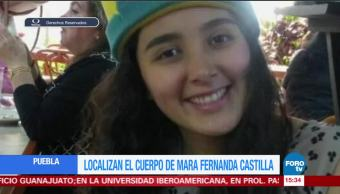 Confirman muerte de Mara Castilla desaparecida en Puebla