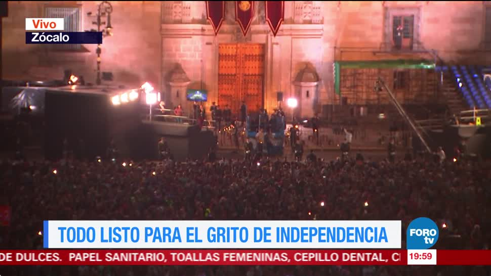 Todo listo para el Grito de Independencia en la CDMX