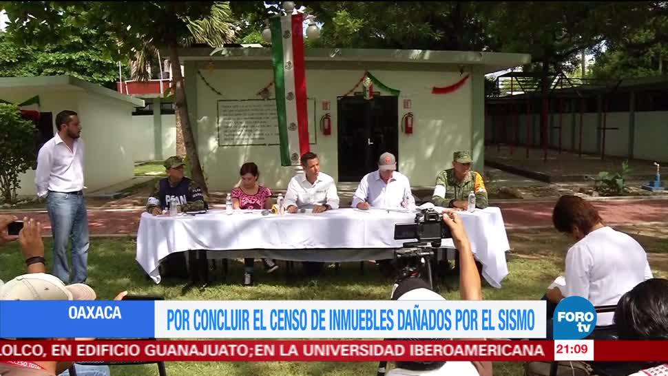Por concluir, censo de inmuebles dañados en Oaxaca por sismo