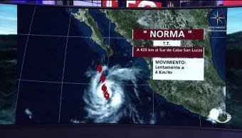 'Norma' se convierte en huracán impactará BCS