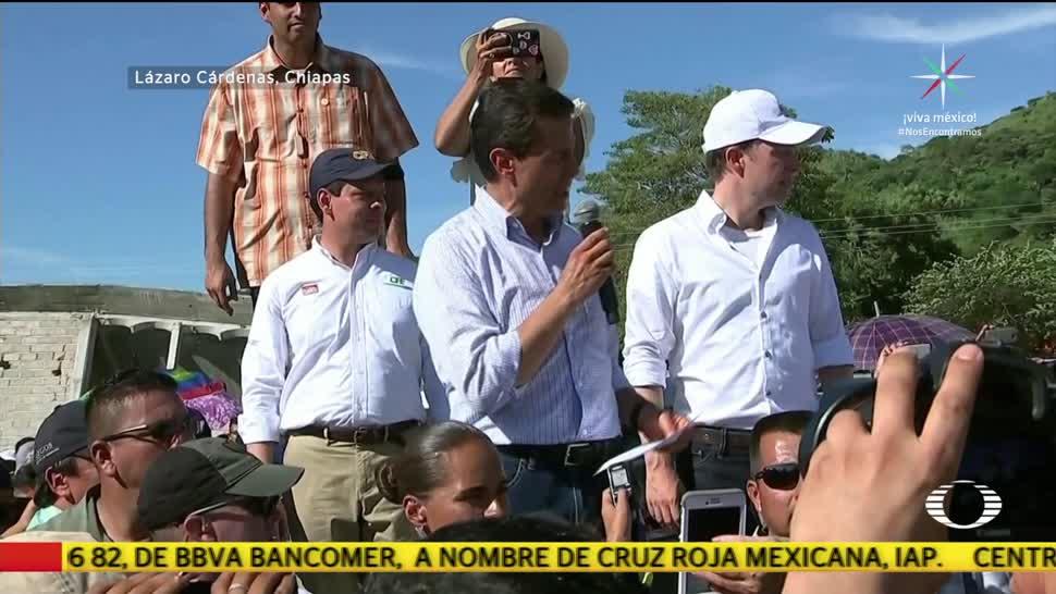 EPN adelanta El Grito en Chiapas
