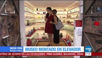 El museo más pequeño del mundo se encuentra dentro de un elevador