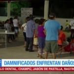 Realizan mil raciones de comida para damnificados en Tehuantepec, Oaxaca