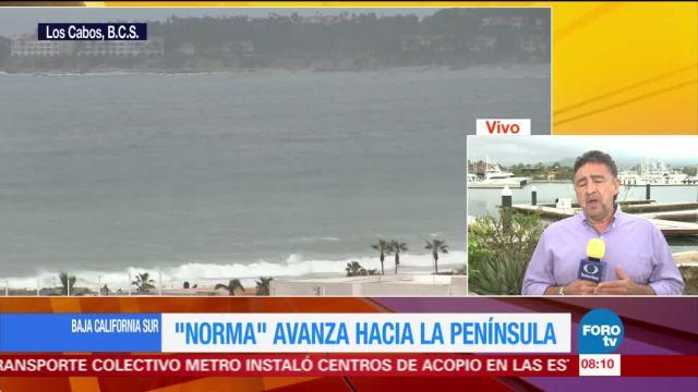 'Norma' avanza hacia Baja California Sur