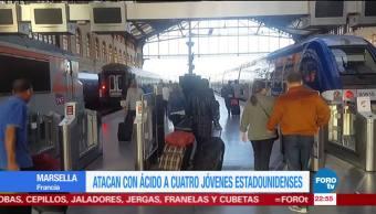 Arrojan ácido a jóvenes estadounidenses en Marsella