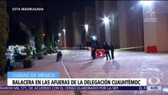 Balacera deja cuatro heridos afuera de la delegación Cuauhtémoc