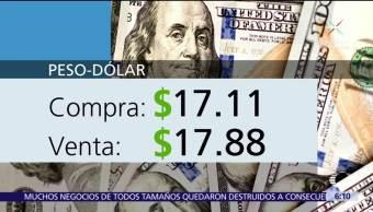 El dólar se vende en $17.88