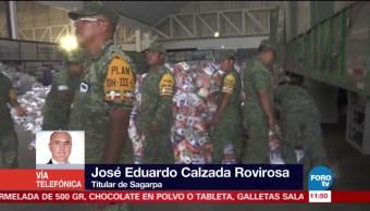 Titular de Sagarpa coordina apoyo a damnificados del sismo en Ixtepec, Oaxaca