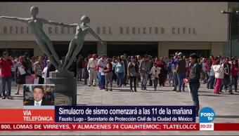 Simulacro ayudará a ajustar protocolos en la CDMX Fausto Lugo