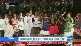 Emotivo concierto Oaxaca corazón a favor de los damnificados por el sismo