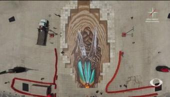 Artista alemán terminal mural 3d en la CDMX
