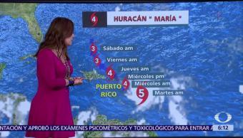 Huracán 'María' recupera categoría cinco y se enfila a Puerto Rico