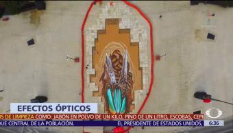 Edgar Müller plasma amor entre Popocatépetl e Iztaccíhuatl en 3D