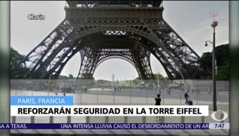 Francia construye muro de cristal blindado para proteger a la Torre Eiffel