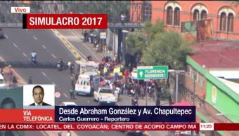 Simulacro de accidente tras sismo en la Ciudad de México